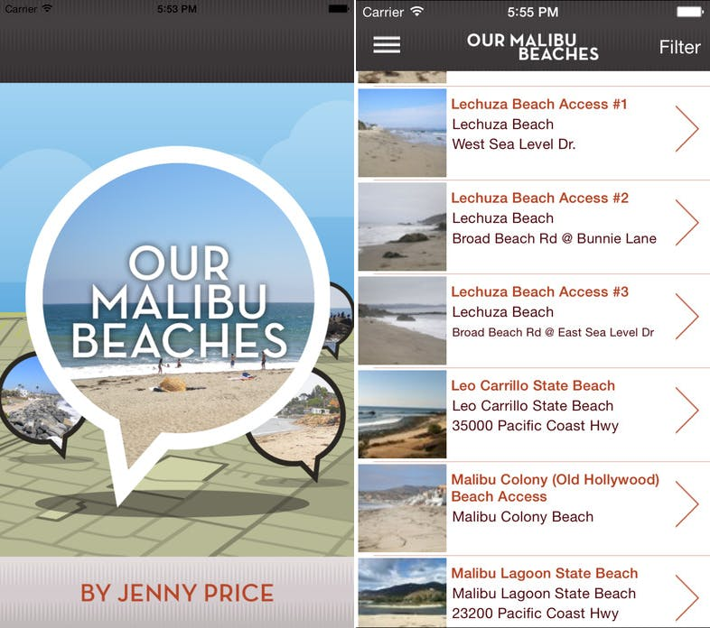 our malibu beaches la 2017 apps