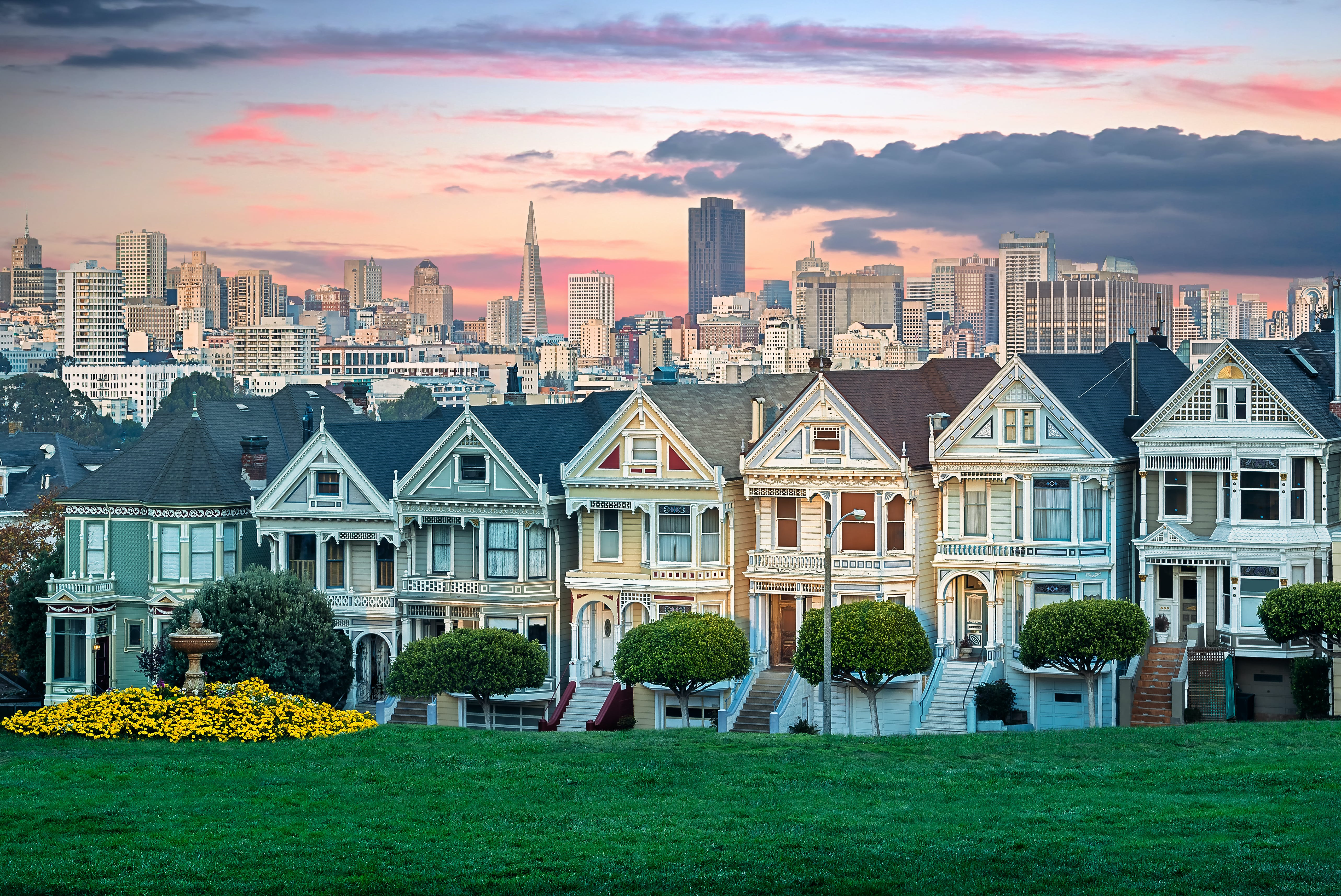 painted ladies san francisco beautiful places