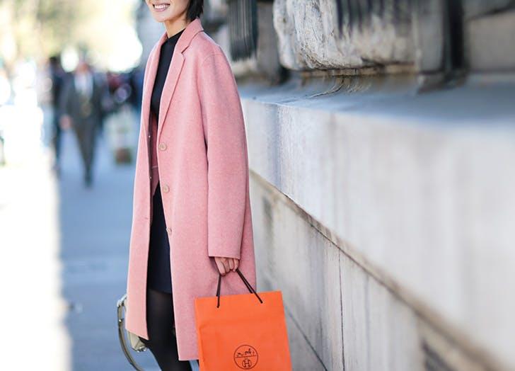 pink wool coats NY