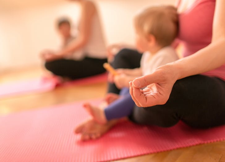 second child baby yoga class