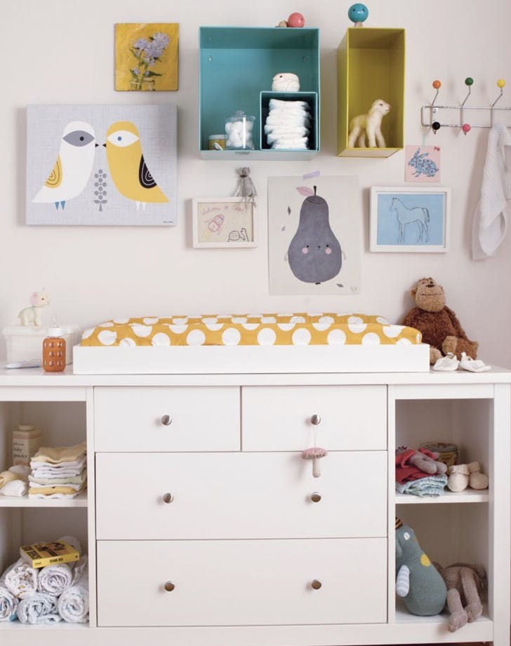 small nursery changing table