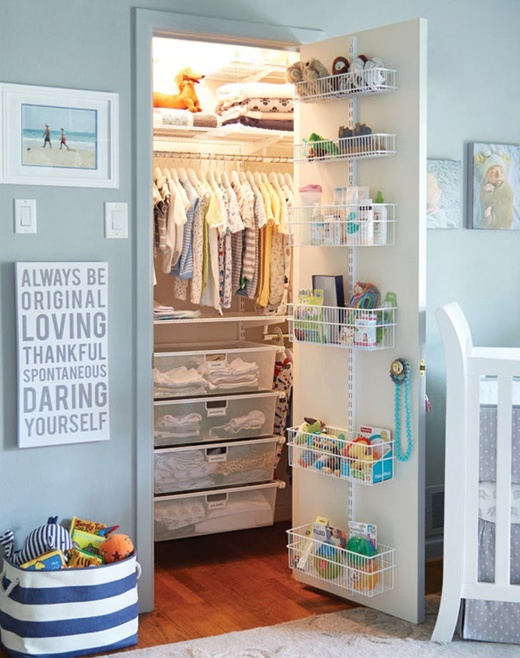 small nursery closet