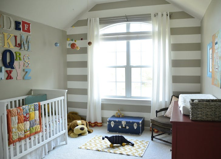 small nursery stripes