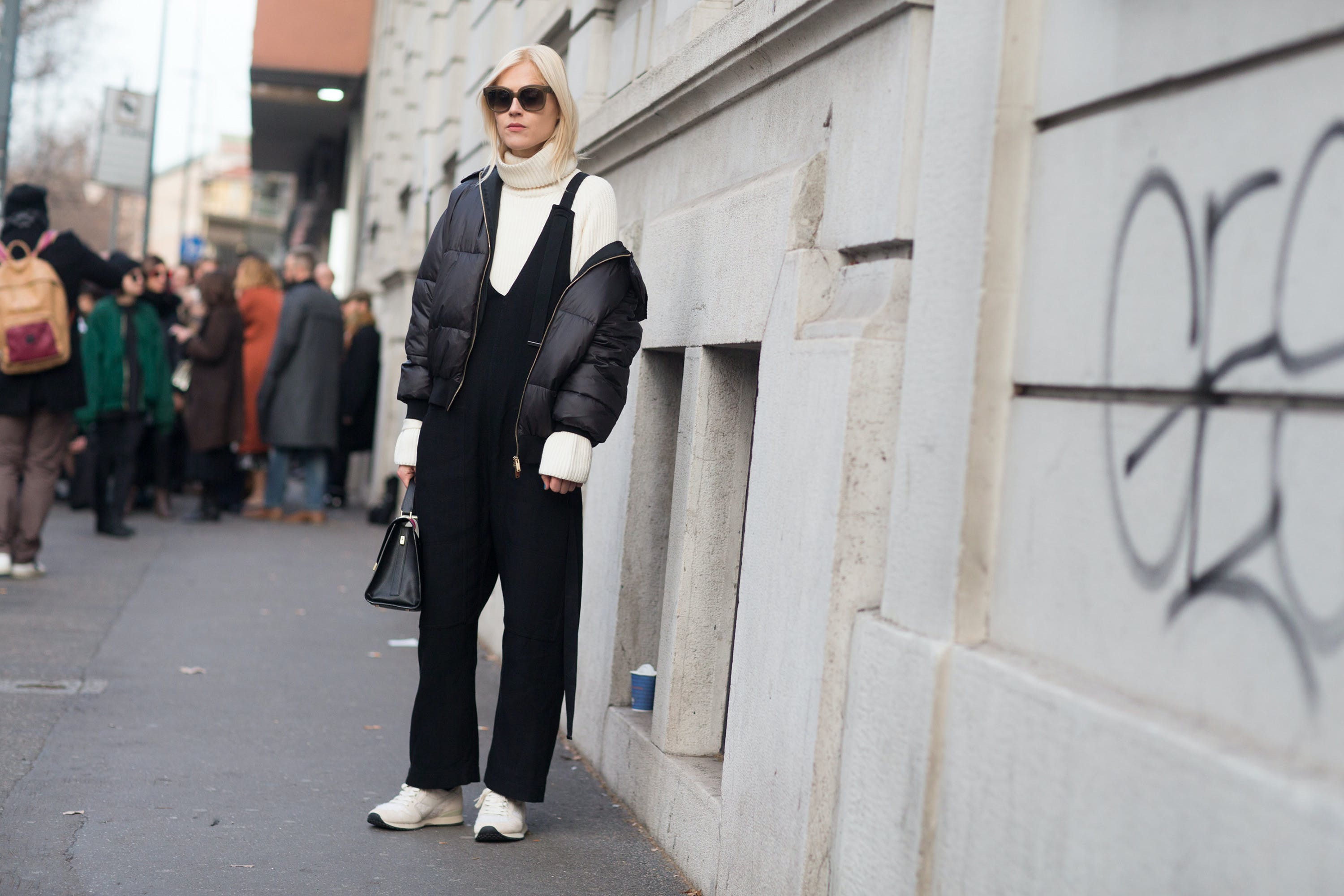 sweater   jumpsuit chicago winter style ideas