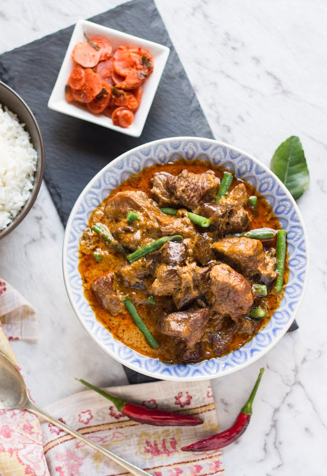 thai red beef curry dallas whole30