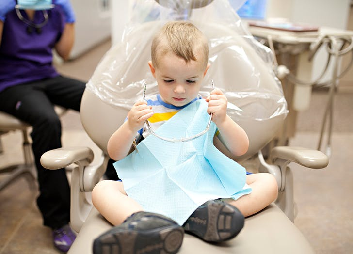 tooth fairy dentist chair boy