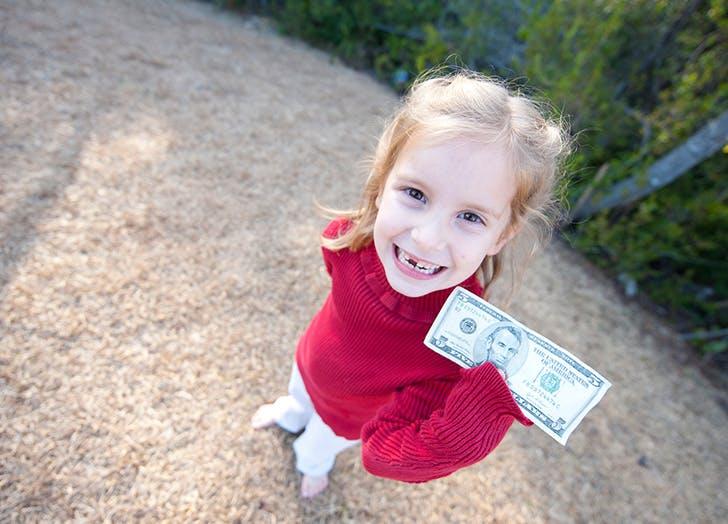 tooth fairy money girl