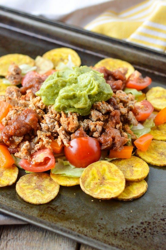 turkey plantain nachos