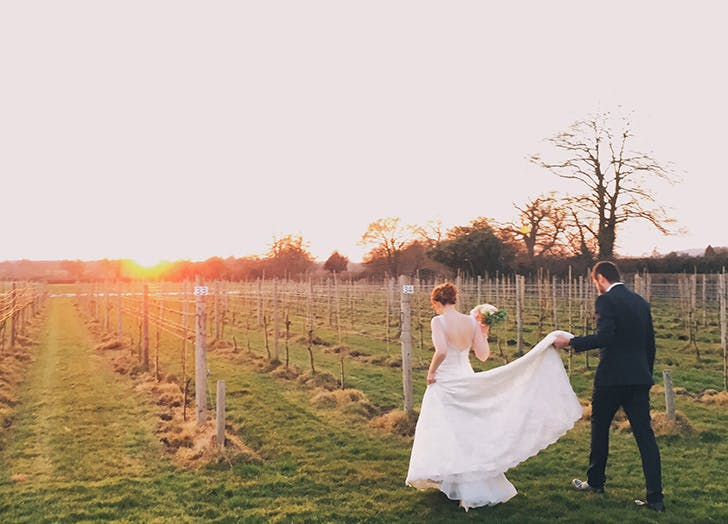 wedding dos sunset