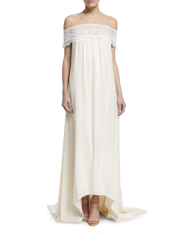 wedding dress shoulders