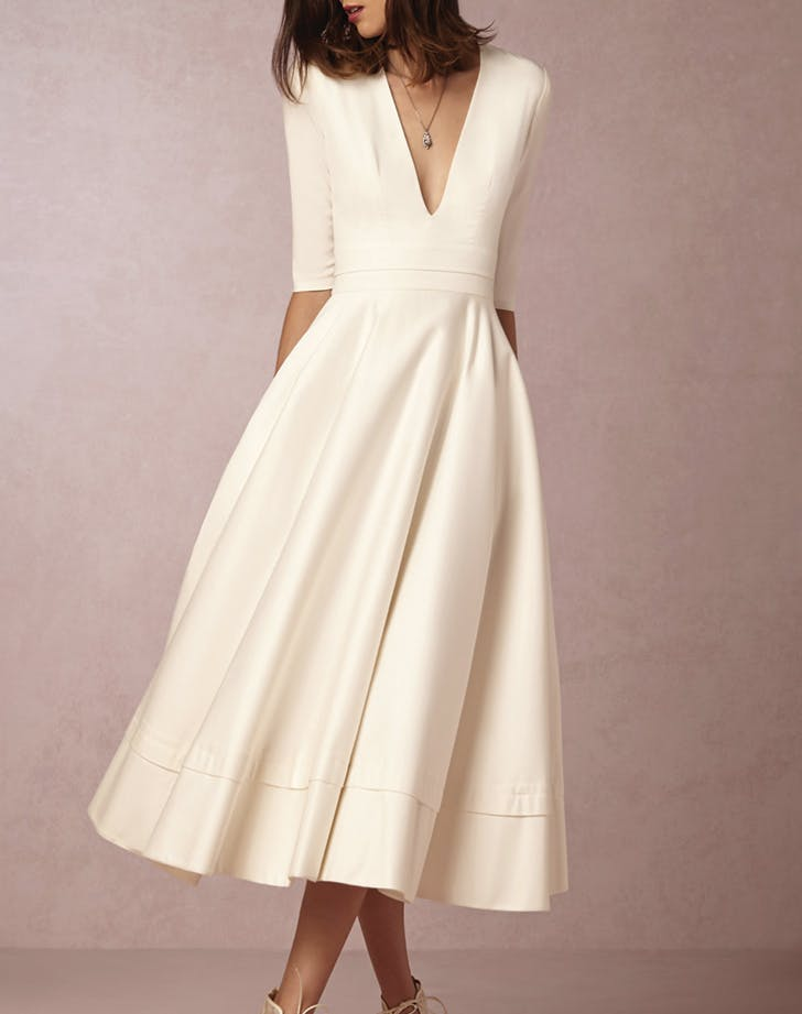 wedding dress tea length