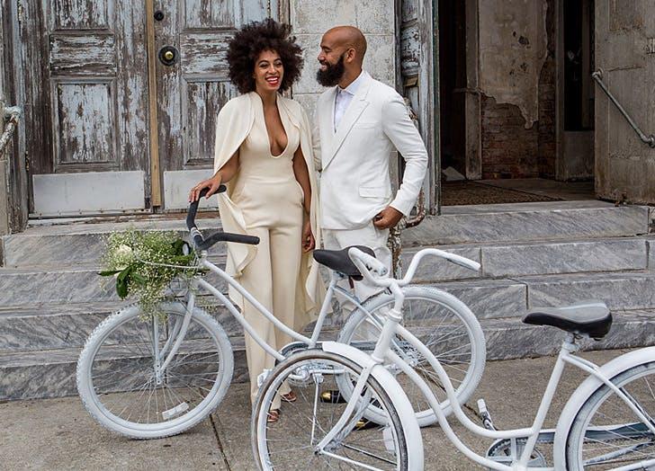 wedding style jumpsuit solange