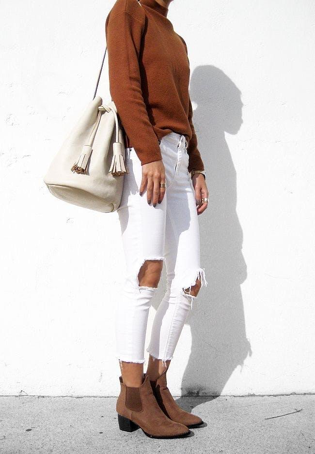white jeans LA