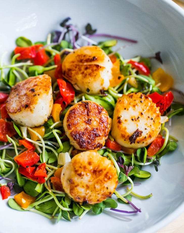 whole30 scallopsalad