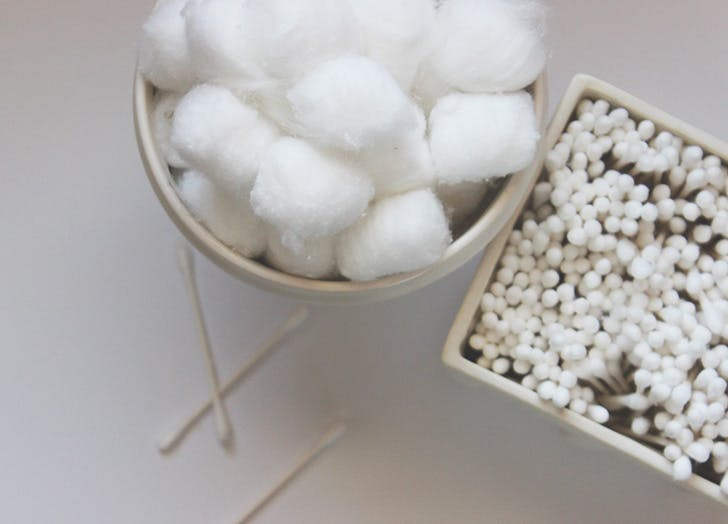 winter skin NY cotton balls