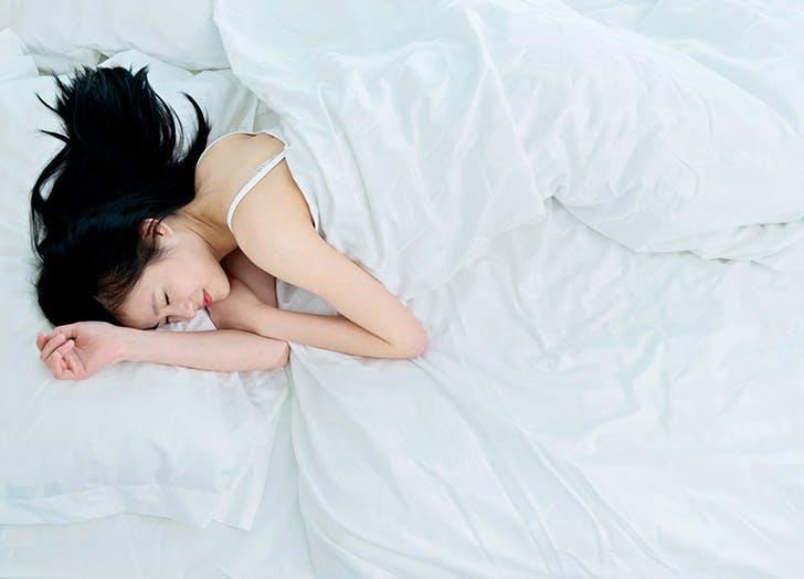 yeast infection sleeping woman