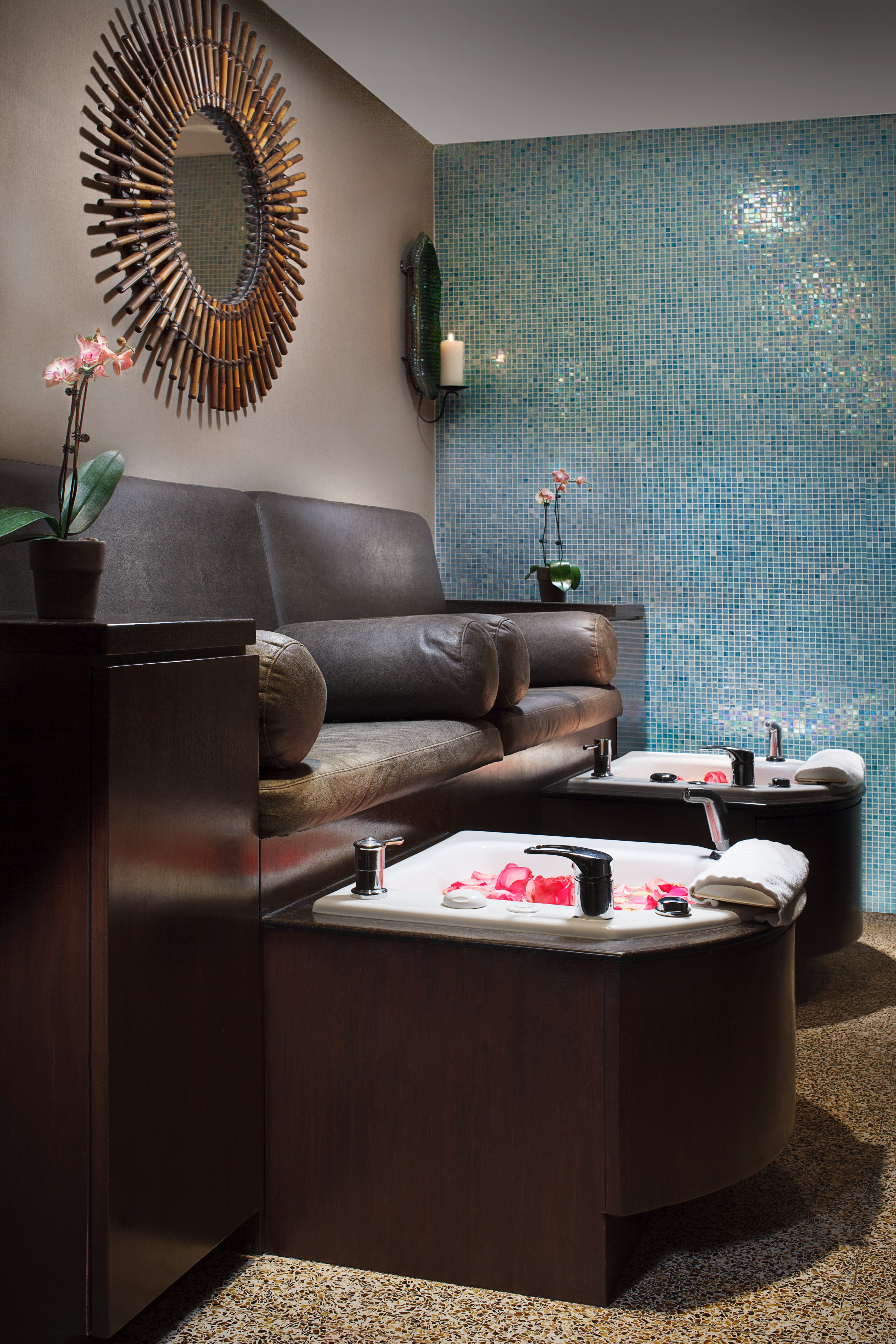 Dreamsicle Pedicure at Spa at Dana chicago spa treatments