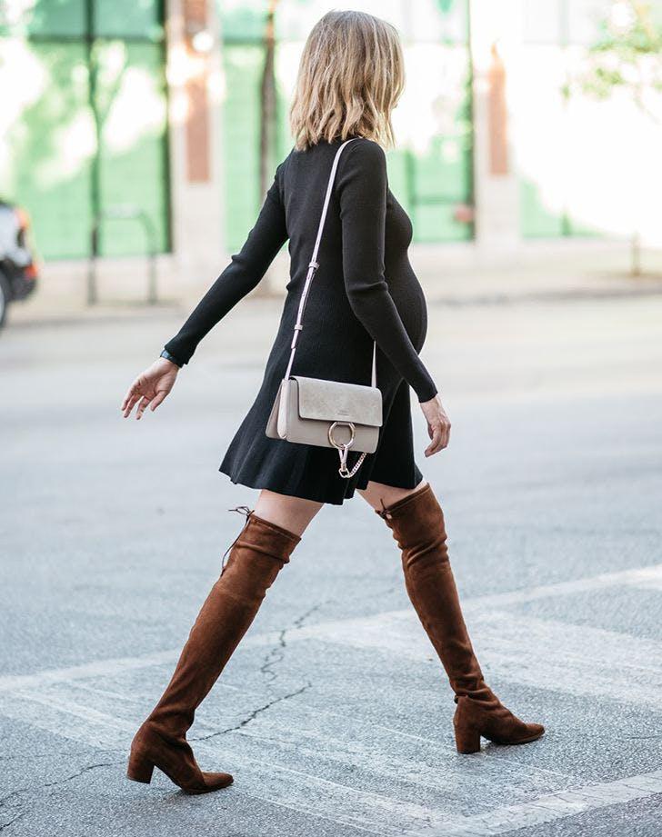 accessorize a black dress otk boots