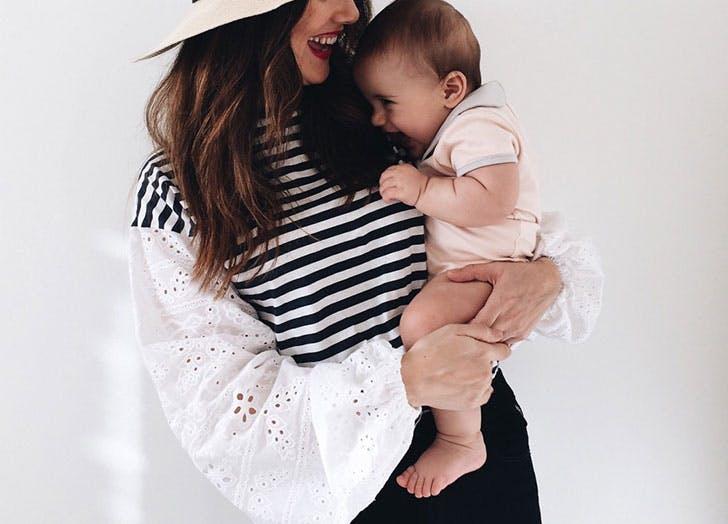 baby girl mom