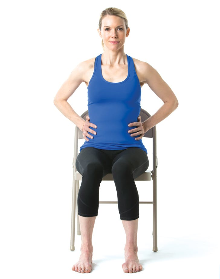 chair yoga breathe
