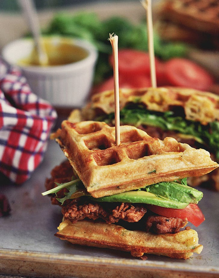 cheat day chickenwaffles