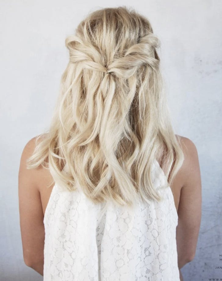 5 Easy Wedding Hairstyles For Brides Purewow Wedding Hairstyles Purewow