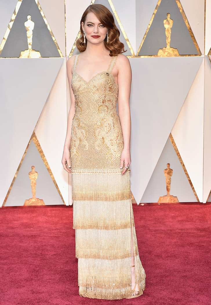 emma stone oscars 2017 fashion