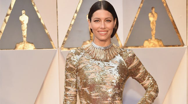 Jessica Biel is Wearing One of Springs Biggest Trends at the Oscars