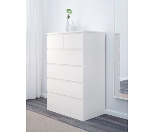 malm drawer chest white  0490260 PE624377 S4