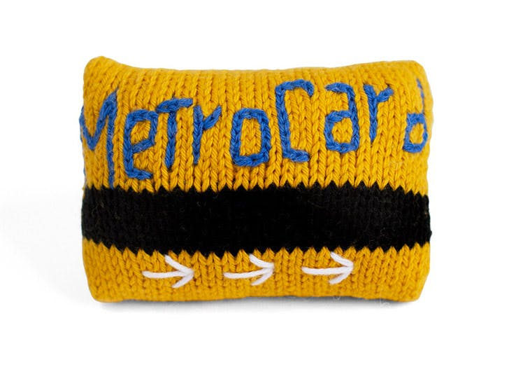 metrocard knit baby rattle NY