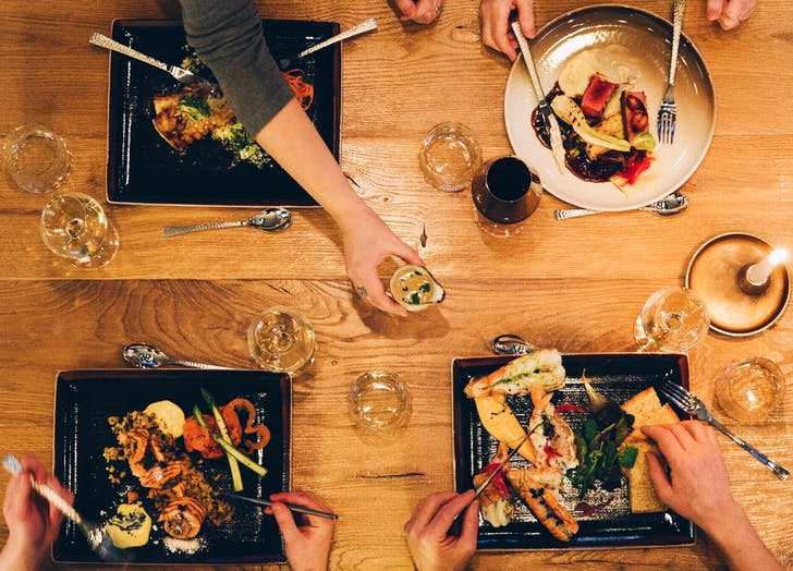 mindful Eating dinner table