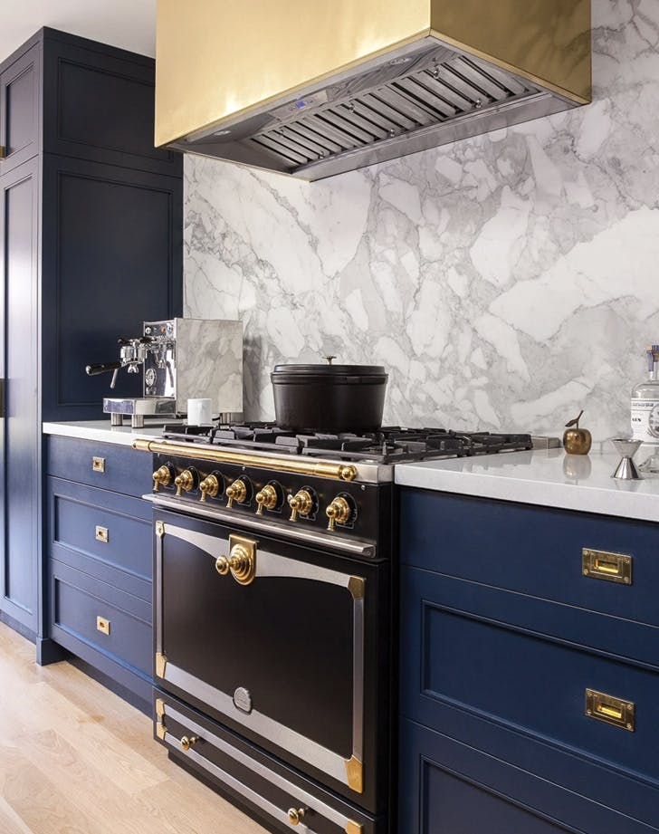 navy blue kitchen marble navy kitchen3 navy blue kitchens are gorgeous and trending purewow
