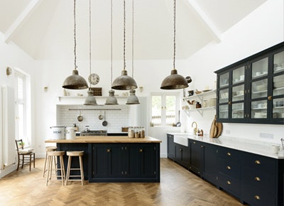 Break Out the Paint Blue Kitchens Are Très Chic Right Now & Navy Blue Kitchens are Gorgeous and Trending - PureWow