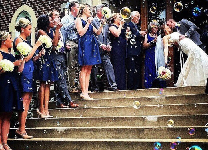 Nontraditional wedding ideas purewow and blow bubbles instead of throwing rice junglespirit Choice Image