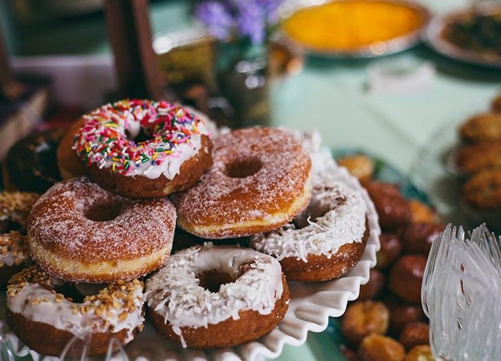 non traditional wedding doughnuts