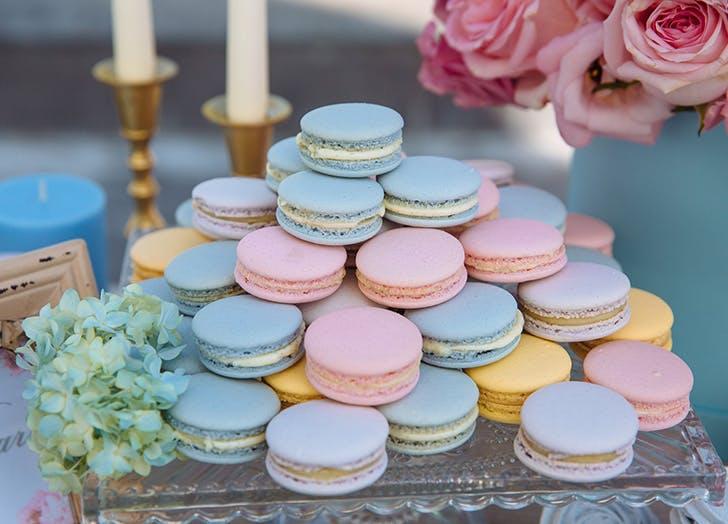 non traditional wedding macarons
