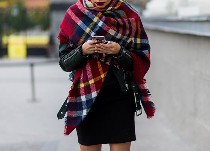 plaid blanket scarf NY