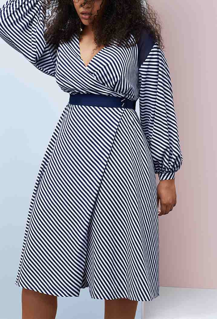 prabal gurung lane bryant striped dress