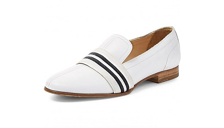 rag and bone white stripe loafers