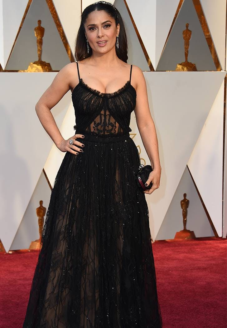 salma hayek oscars 2017 fashion