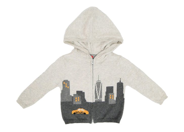 skyline taxi baby hoodie NY