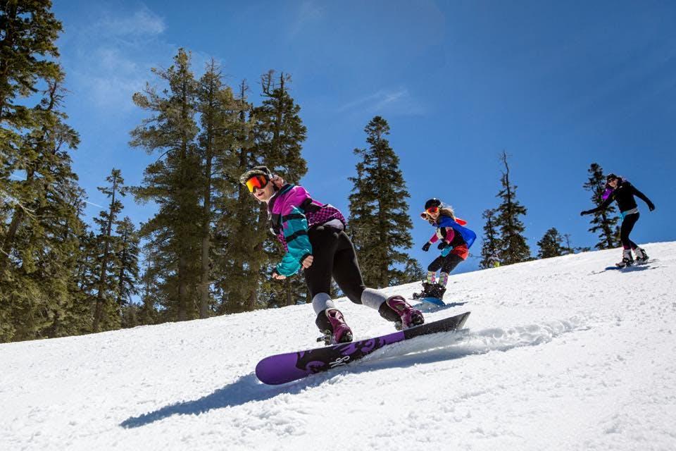 snowboarding at tahoe sf