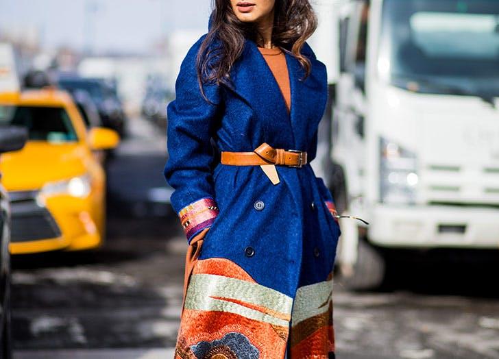 two tone coat belt NY