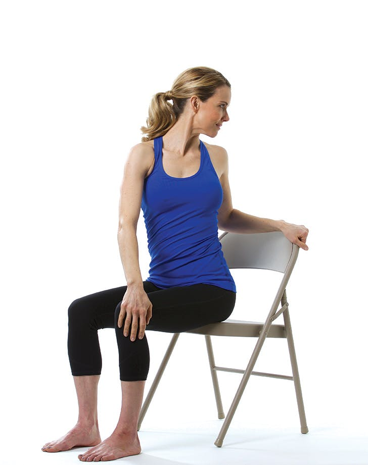 12 Chair Yoga Poses for Stress and Posture - PureWow