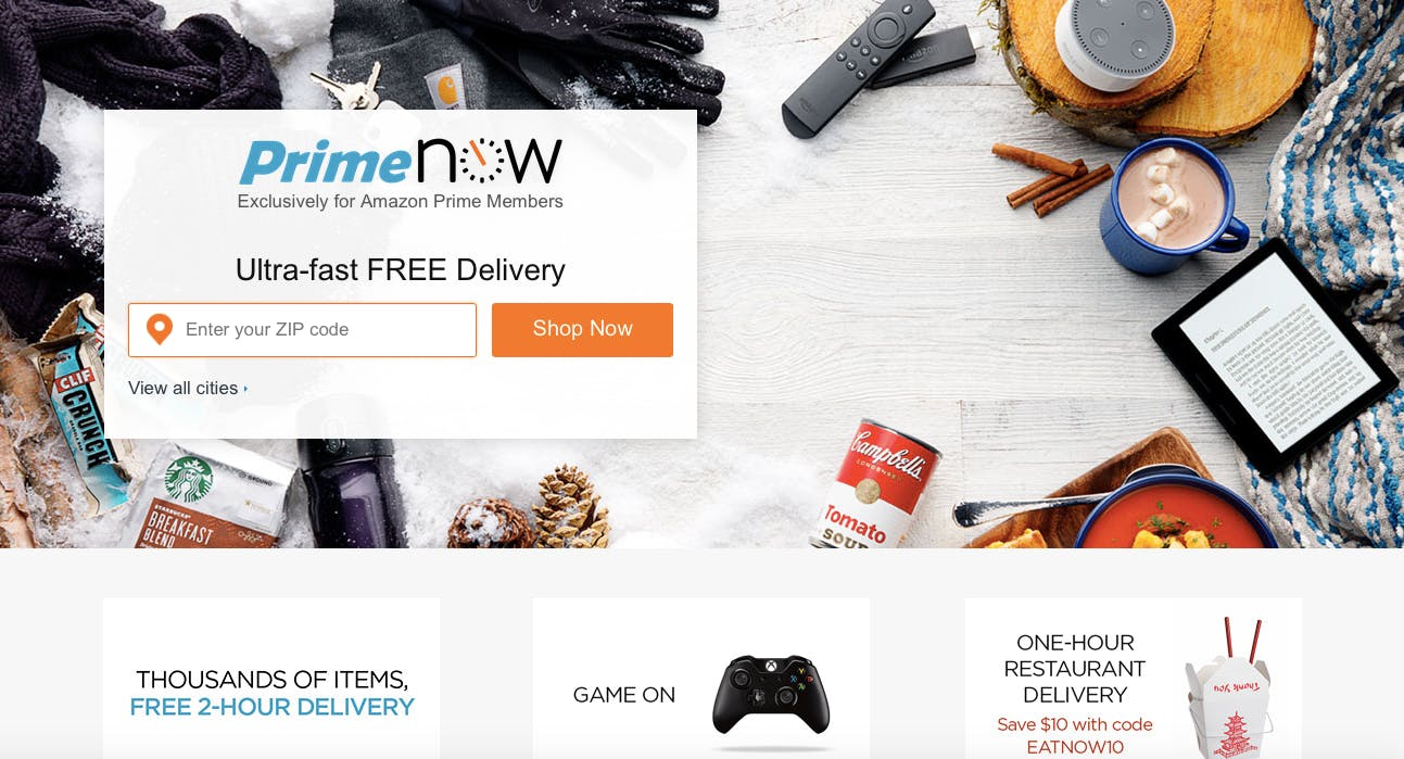 amazon prime now apps dallas