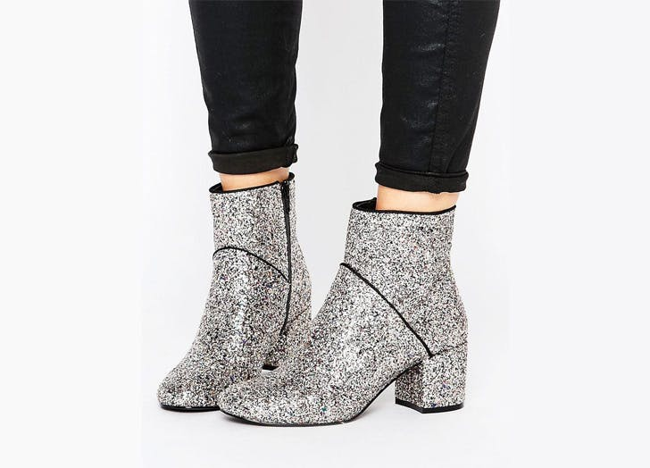 asos glitter ankle boots NY