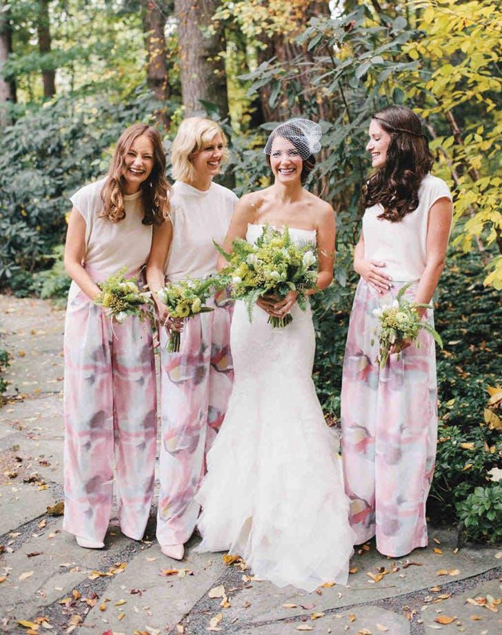bridesmaids separates palazzo