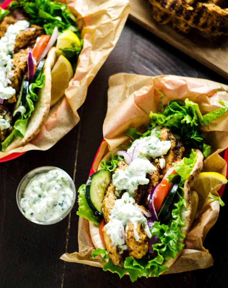 chicken gyros vertical