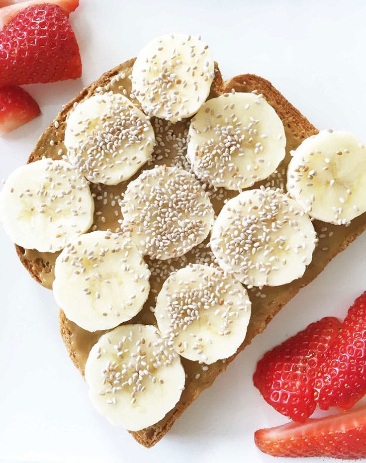 clean breakfast toast
