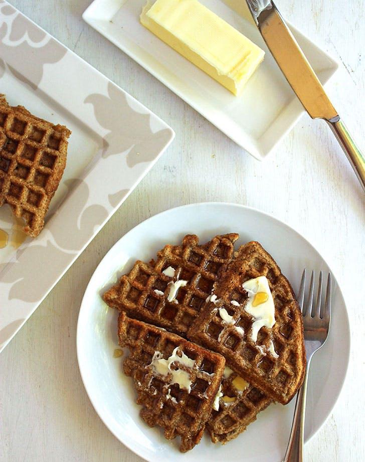 clean breakfast waffles
